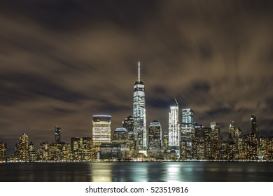 Beautiful view in New York City at night