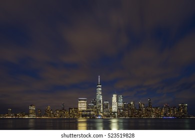 Beautiful view at New York City after sunset