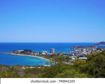 Beautiful view of Noumea from Ouemo's canons, in the South of New Caledonia main island.
