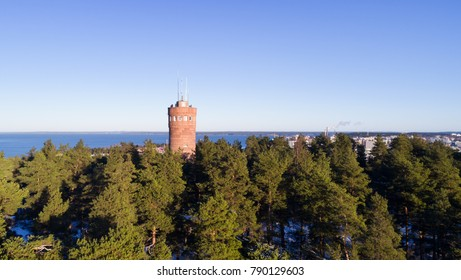Beautiful view of observation tower in Tampere.