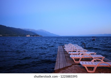 Beautiful view of Ohrid Lake, Ohrid, Macedonia.