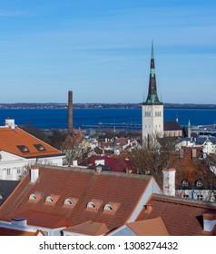 Beautiful view of old city Tallinn Estonia