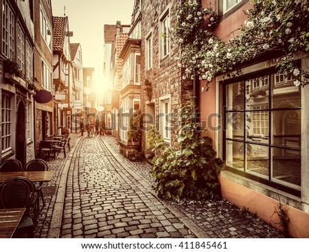 Beautiful View Old Town Europe Beautiful Stock Photo (Edit
