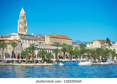 Beautiful view of the old town Split in Croatia.