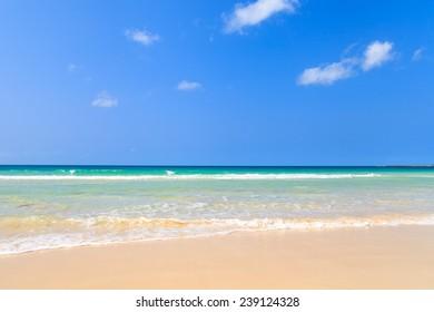 Beautiful view on beach and ocean, Boavista, Cape Verde - Cabo Verde