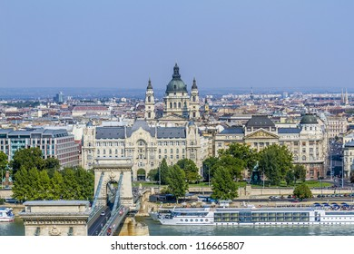 Beautiful view on Budapest and river Danube from Royal Castle Hill.