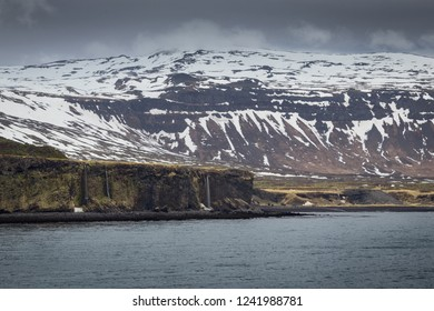 Beautiful view on the coast line from the village of Arnarstapi, west Iceland.