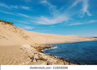 Beautiful view on Dune of Pylat (Arcachon) is the tallest sand dune in Europe
