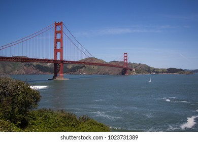 A beautiful view on the Golden Gate Bridge at day