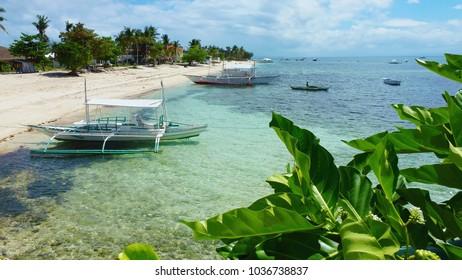 Beautiful view on the island coast, Malapascua Island Philippines