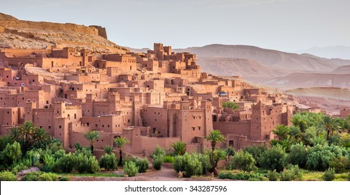beautiful view on kasbah Ait ben Haddou, Morocco, Africa