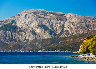 Beautiful view on Limnionas bay at Samos island, Greece