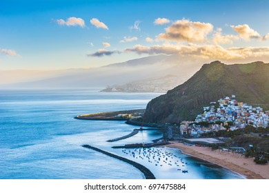 Beautiful view on San Andres near Santa Cruz de Tenerife in the north of Tenerife, Canary Islands, Spain