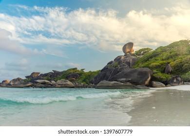 Beautiful view on Similan island,  at Similan national park, Phang Nga, Thailand