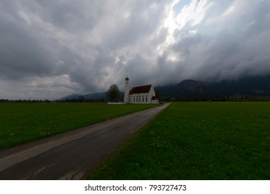 Beautiful view on St. Coloman church in Germany