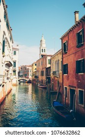 Beautiful view on Venice channel. Italy, Venezia