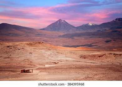 beautiful view on the volcano licancabur near San Pedro de Atacama, Chile, South America