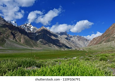 Beautiful view on the way from Kargil to Zanskar, Ladakh, India