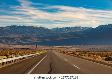 Beautiful view On the way to Mammoth Lakes Hwy 395, California, US.