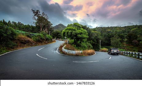 Beautiful view of Ooty curve road Tamilnadu India. clicked on Month of July 15th 2019