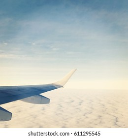 Beautiful view out of airplane window