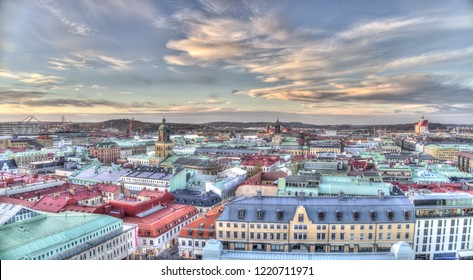 Beautiful view over central Gothenburg city.