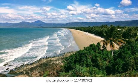 Beautiful view over Four Mile beach in Port Douglas, Queensland, Australia