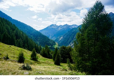 Beautiful view over the Lavizzara valley near Fusio, Ticino, Switzerland