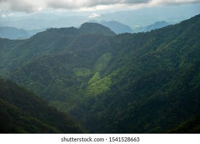 Beautiful view over mountain Chiang Mai Thailand