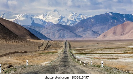 Beautiful view of Pamir Highway in Tajikistan