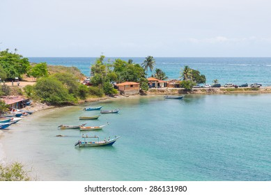 Beautiful view of Pampatar bay in the caribbean sea