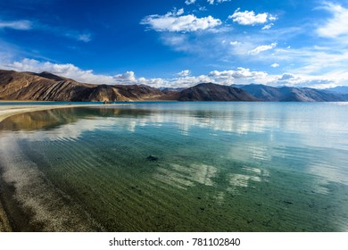 Beautiful view of pangong lake, leh ladakh india