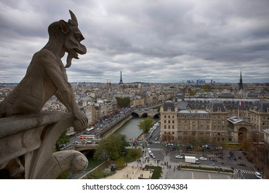 Beautiful view of Paris from Notre Dame Cathedral