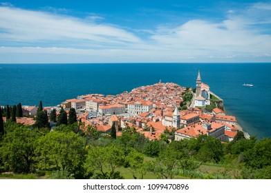 beautiful view of piran, slovenia