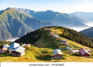 Beautiful view of plateau in Rize, Turkey