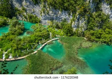 Beautiful view in Plitvice Lakes National Park. Croatia.