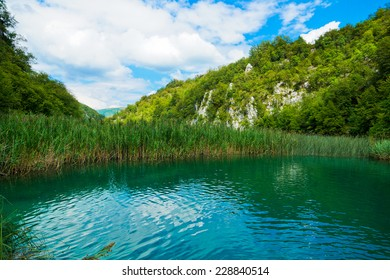 Beautiful view in the Plitvice Lakes National Park (Croatia)