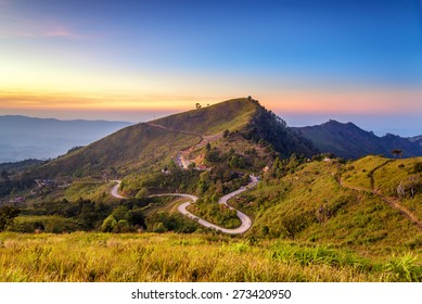 A beautiful view point  of Doi pha tung , chiang rai , Thailand