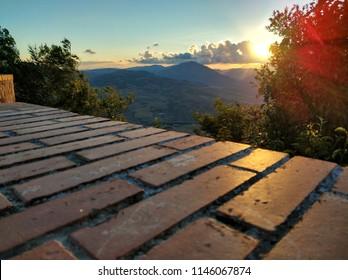 beautiful view from polizzi generosa, sicily, italy