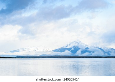 Beautiful view from the  Puerto Natales, province of Ultima Esperanza, one of the four provinces that make up the Magallanes and Antartica Chilena Region