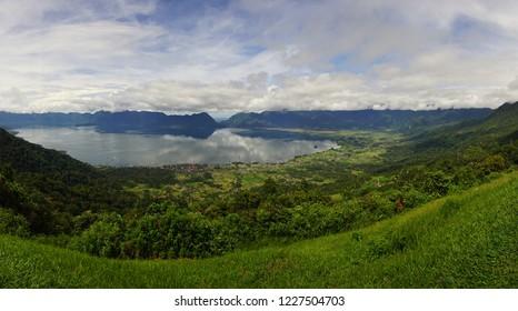 Beautiful view of Puncak Lawang in West Sumatera, Indonesia. Puncak Lawang is a peak plateau in Agam District.