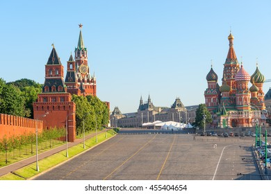 beautiful view of the Red Square in Moscow