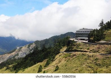 Beautiful view from the resort at Hehuan mountain, Taiwan