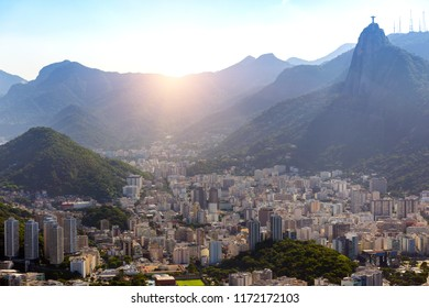 beautiful view of the Rio de Janeiro at sunny day, Brazil