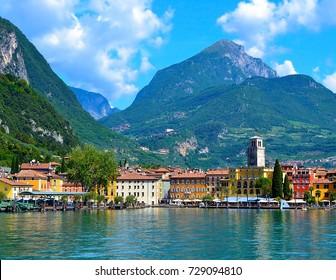 Beautiful view of Riva del Garda, Lake Garda, region Lombardia, Italy