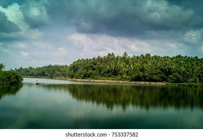 Beautiful view of a river in Calicut, Kerala