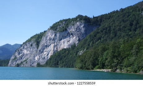 Beautiful view of the rock above the lake