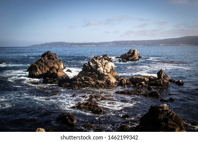 A beautiful view of the rocky shores of Point Lobos State Natural Reserve.