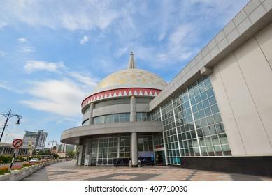 Beautiful view of The Royal Regalia Museum located in Bandar Seri Begawan, Brunei.