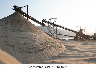 beautiful view of sand mine.